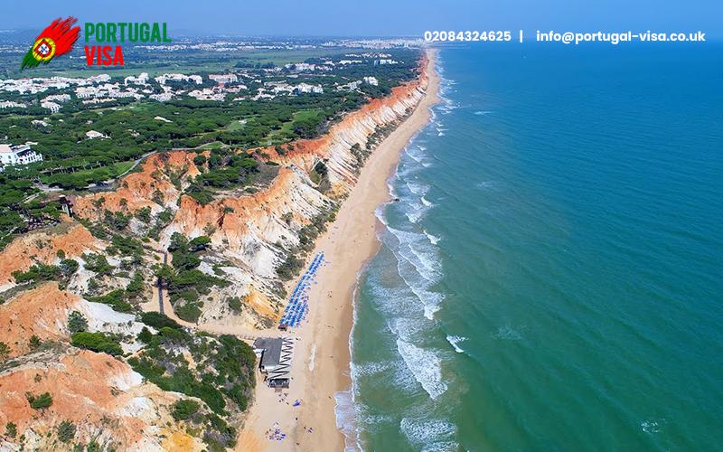 Falésia Beaches in Portugal